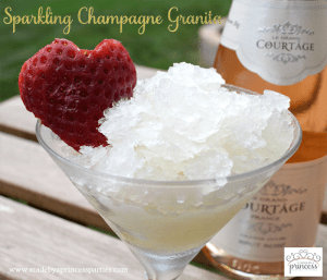 Sparkling Champagne Granita Honey Recipe