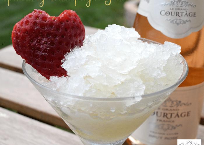 Sparkling Champagne Granita Honey Recipe
