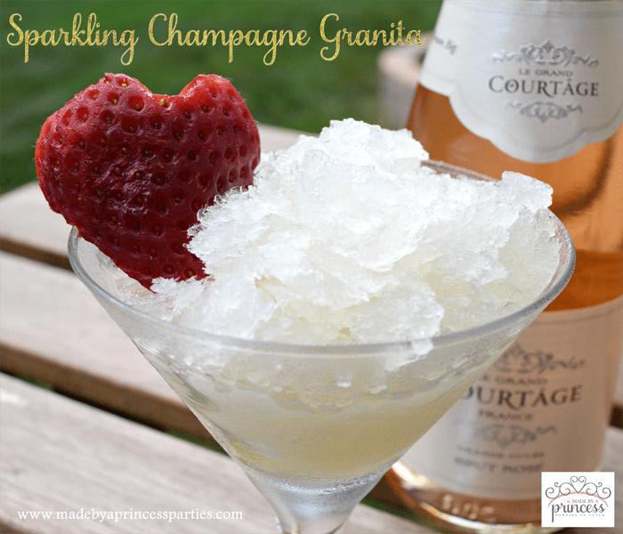 sparkling champagne granita with honey recipe