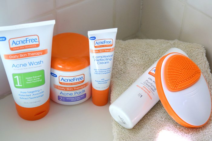 acnefree daily skin therapy cleanser and set