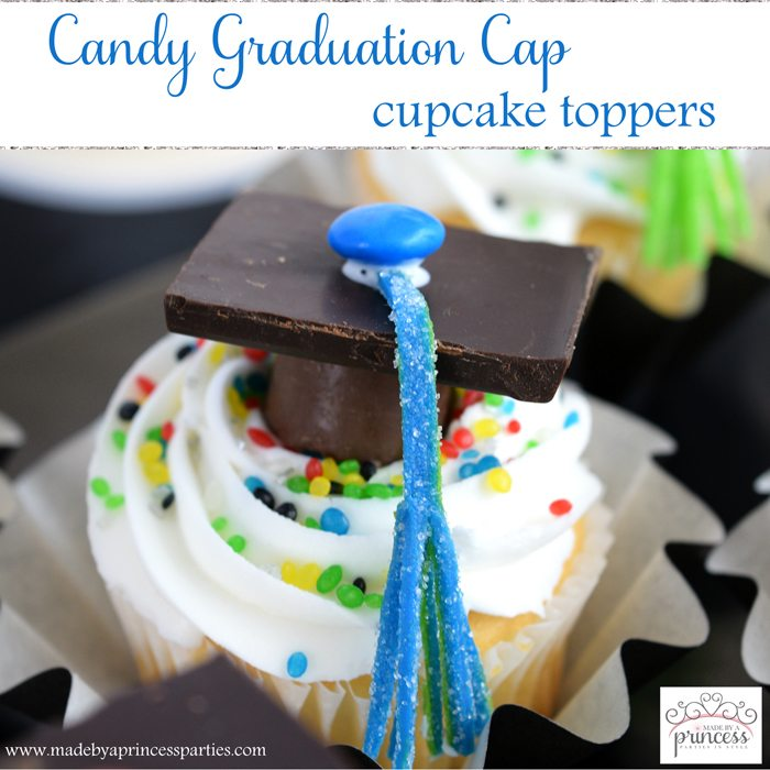 candy graduation cap cupcake toppers main