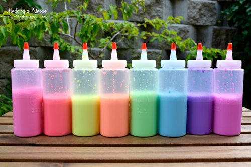 wayfair Housewarming party outdoor party spaces chalk paint rainbow