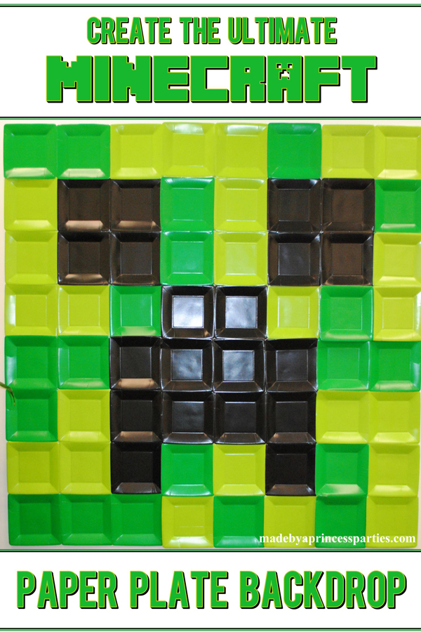 Create the Ultimate Minecraft Backdrop at using paper plates