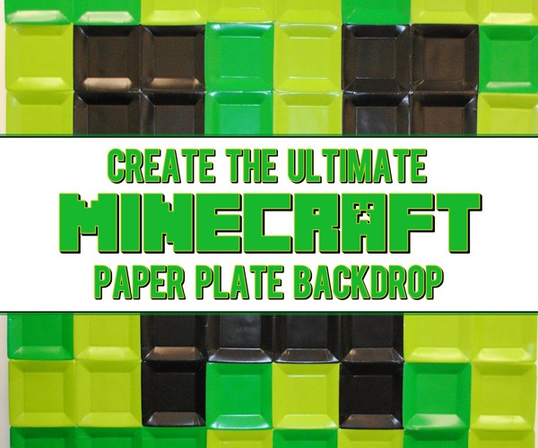 How To Create Ultimate Minecraft Party Backdrop