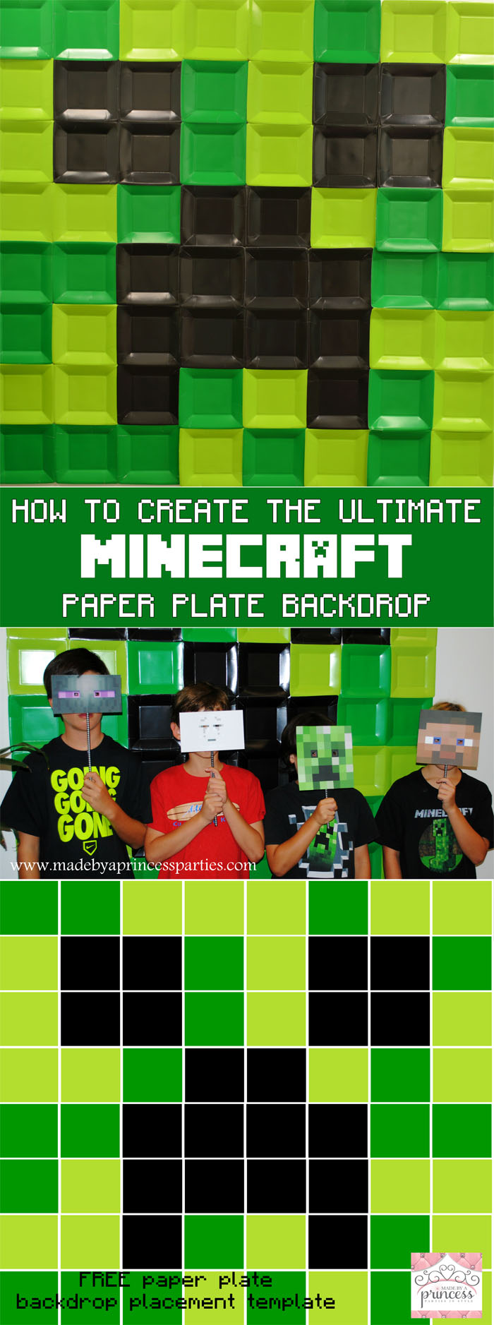 how to create the ultimate minecraft paper plate backdrop pin it