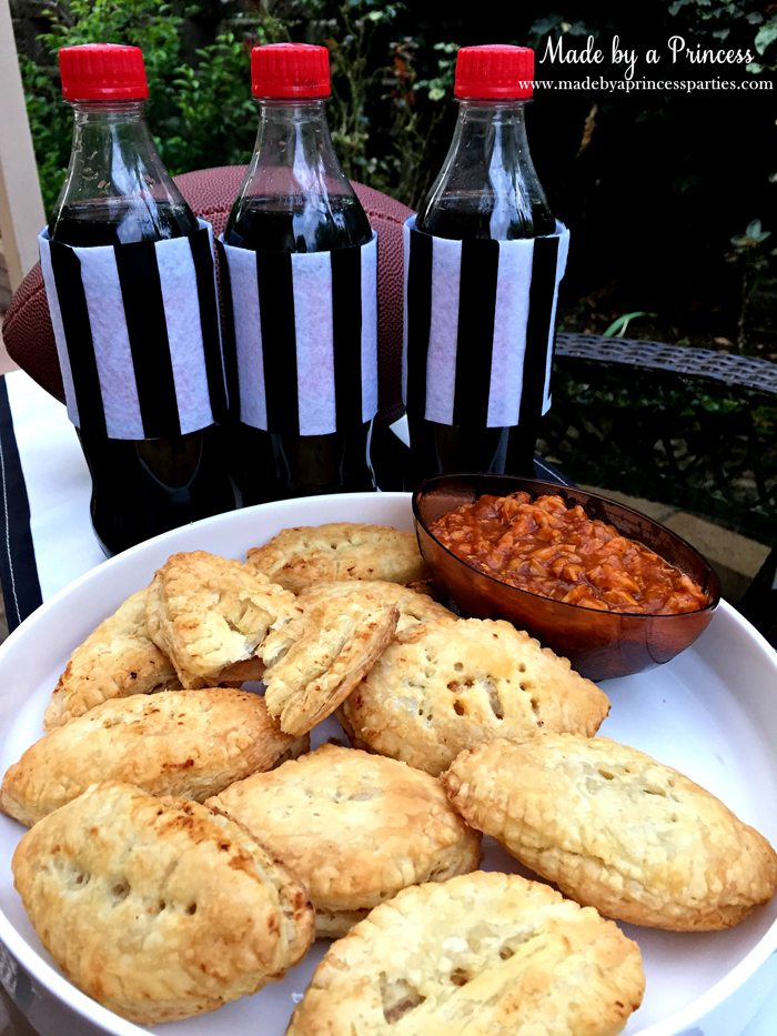 spicy-coca-cola-bbq-crock-pot-bbq-chicken-in-football-puff-pastries-with-side-of-extra-chicken