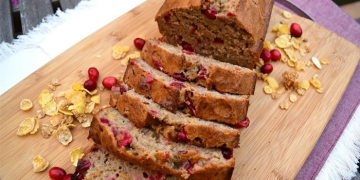 holiday-cranberry-honey-almond-banana-bread