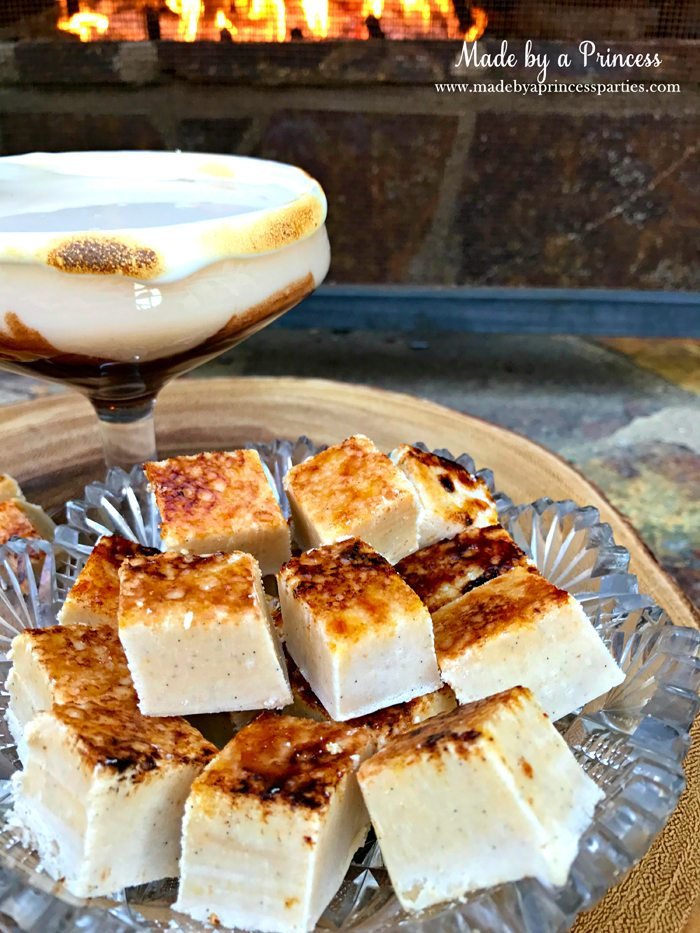 marshmallow-creme-brulee-fudge-bowl-with-toasted-marshmallow-martini-and-fireplace