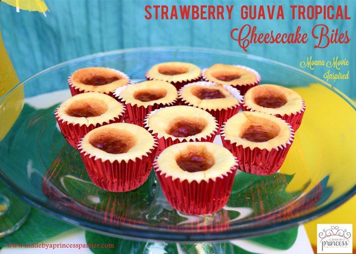Strawberry Guava Tropical Cheesecake Bites