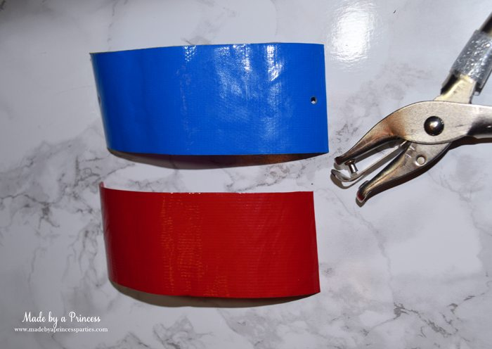 Party-Costume-Idea-How-to-Make-Superhero-Cuffs-punch-hole-at-both-ends