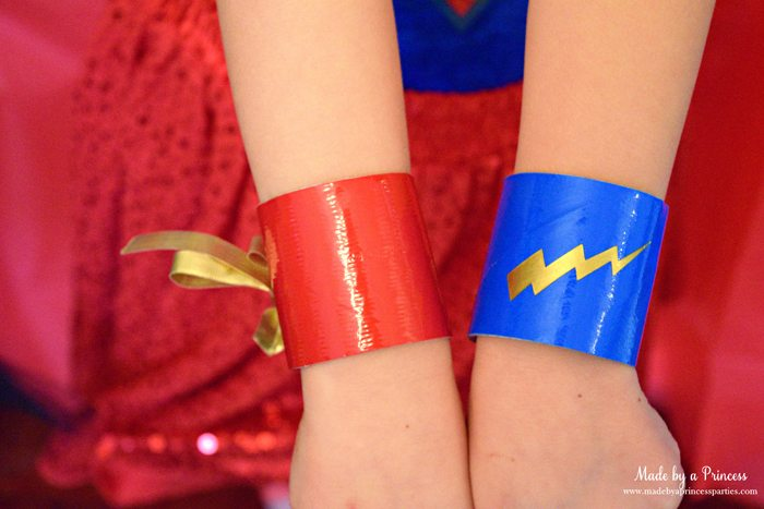 Party-Costume-Idea-How-to-Make-Superhero-Cuffs-red-and-blue