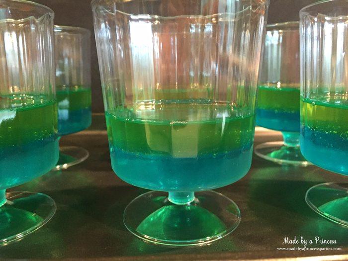 Unicorn Party Rainbow Jello Recipe Star Wars Rebel Force berry green second layer