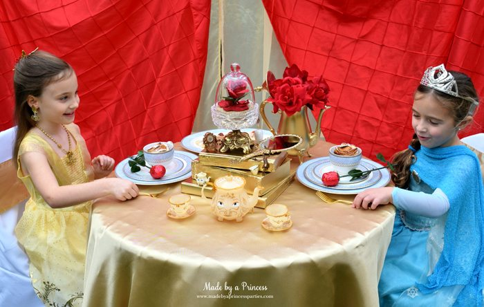 Beauty-and-the-Beast-Movie-Tea-Party-for-Two-belle-telling-elsa-the-forks-are-real-gold