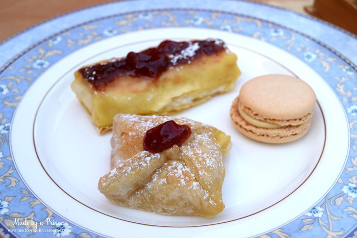Beauty-and-the-Beast-Movie-Tea-Party-for-Two-brie-en-croute-macarons-cheese-blintze