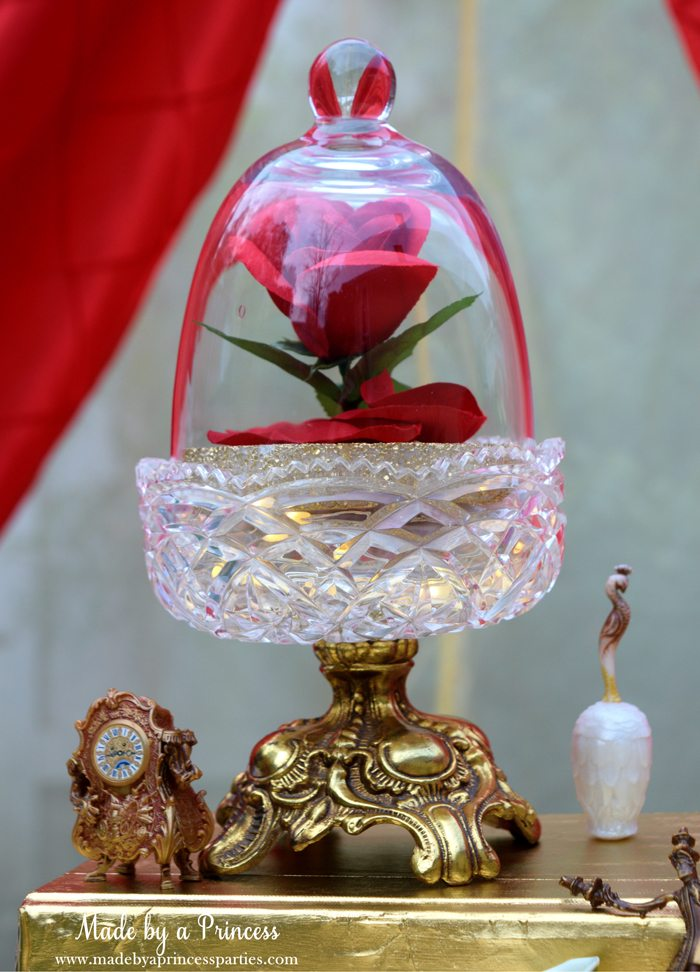 Beauty-and-the-Beast-Movie-Tea-Party-for-Two-enchanted-red-rose