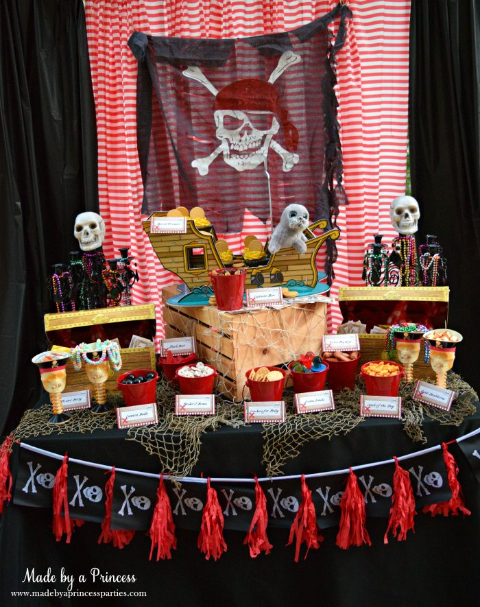 Pirate Bottle Invitations Party Idea details on Birthday in a Box