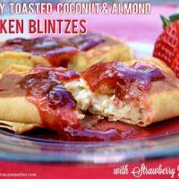 Savory Strawberry Preserves Toasted Coconut Almond Chicken Blintz Recipe