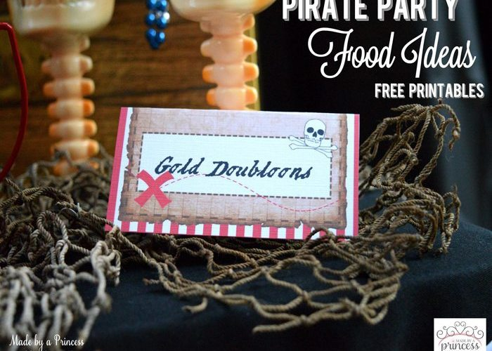 Pirate Party Food Ideas Free Printables