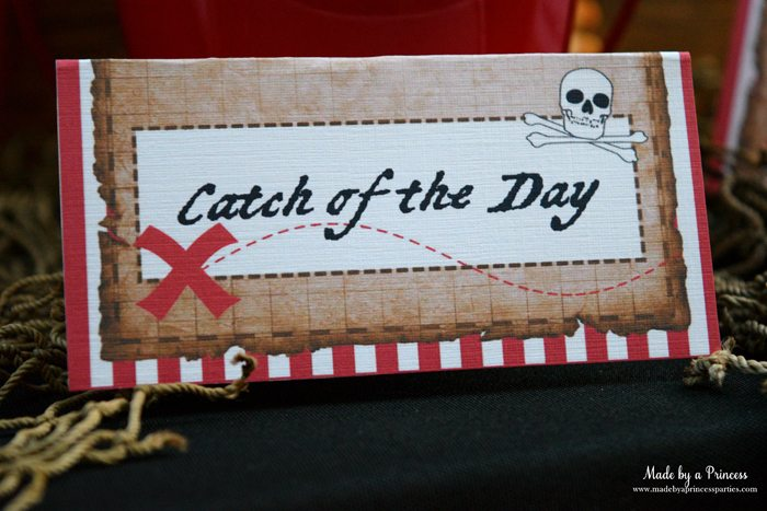 pirate party food free printables catch of the day labels