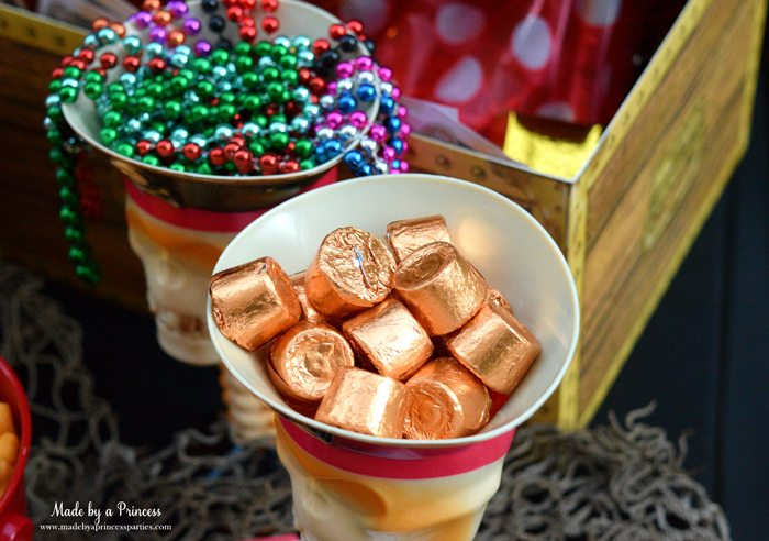 pirate party food free printables gold doubloons rolos