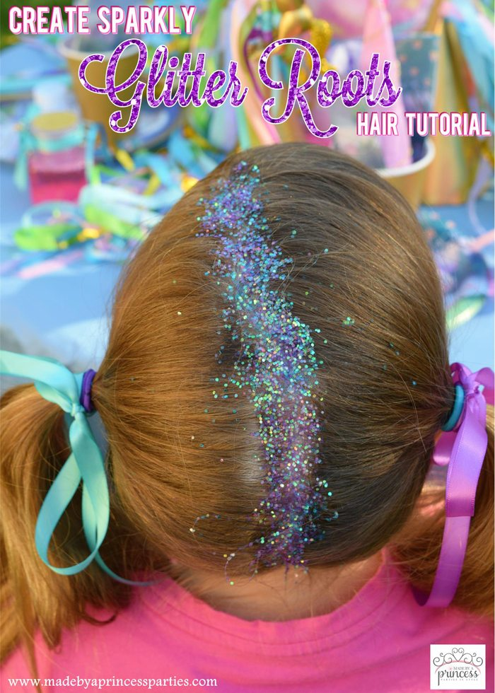 Create Sparkly Glitter Roots Hair Tutorial