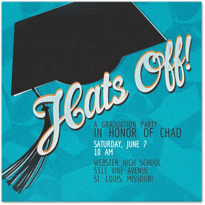 Easy Graduation Party Ideas evite invite