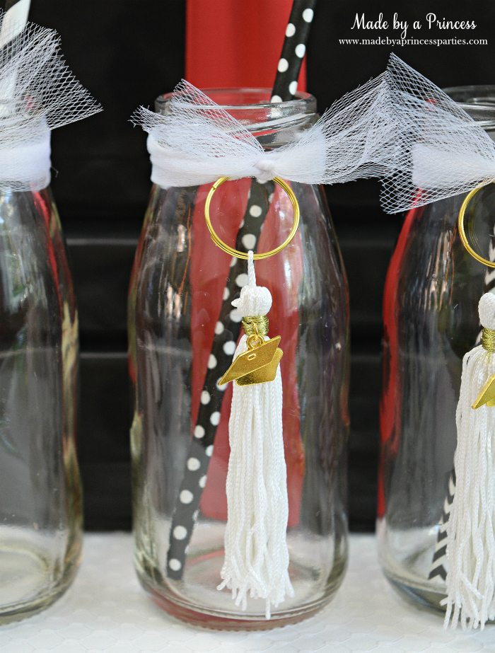 Easy Graduation Party Ideas graduation bottle with tassel