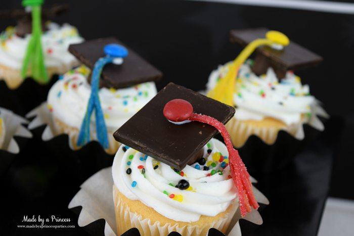 Easy Graduation Party Ideas graduation candy cap cupcake topper