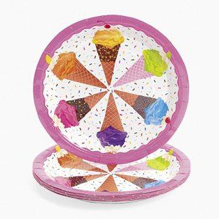 First Birthday Ice Cream Party Ideas ice cream plates