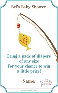 Fishing Baby Shower Ideas diaper raffle