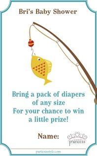 Fishing Baby Shower Ideas diaper raffle