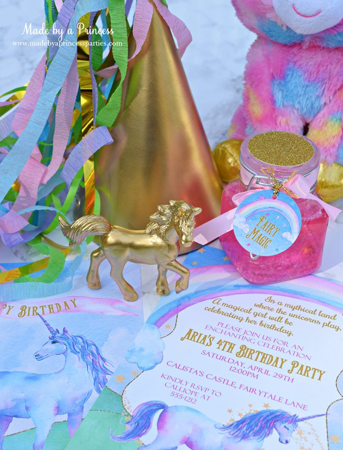 Glitter Fairy Jar Party Idea Tutorial perfect for a unicorn party favor