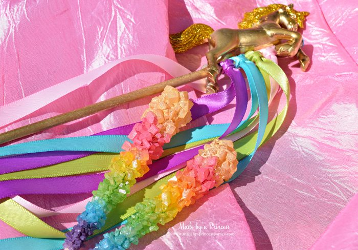 original rainbow rock candy party food tutorial gold tipped perfect for a unicorn party
