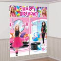 Fashionista Barbie Party Ideas Barbie Wall Decorations - Made by a Princess #barbie #barbieparty