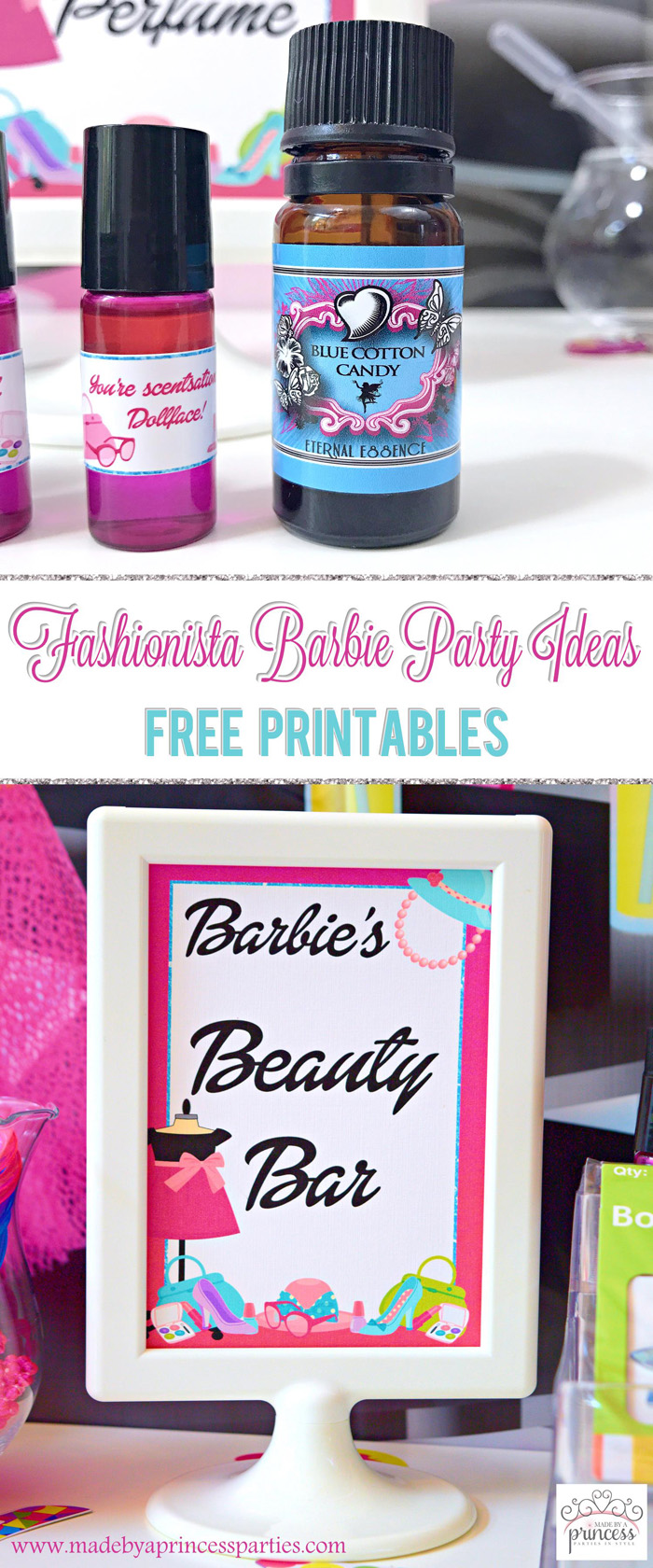 Fashionista Barbie Party Ideas Pin It - Made by a Princess #barbie #barbieparty
