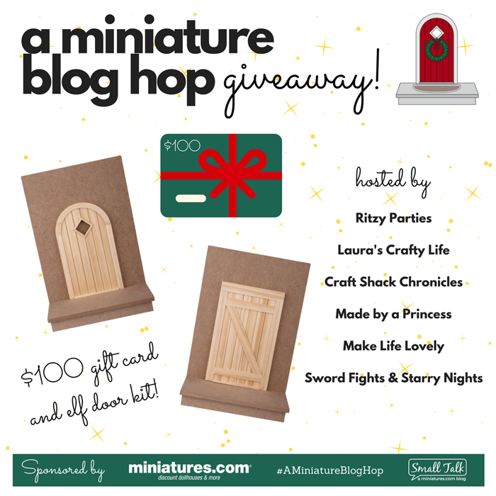 How to Create Your Own Tiny Elf Door Tutorial Blog Hop Giveaway 100 dollars