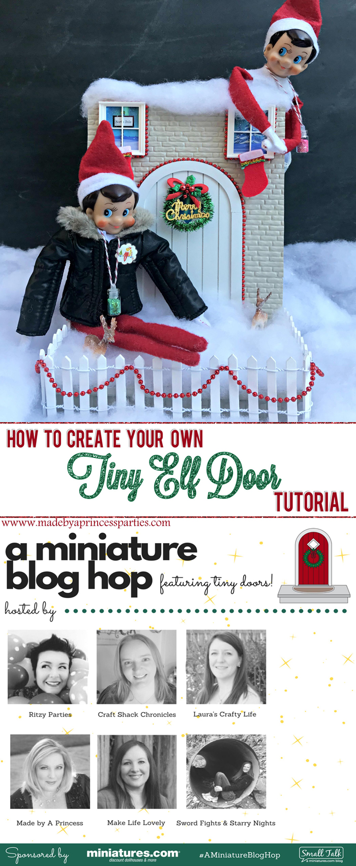 How to Create Your Own Tiny Elf Door Tutorial Elf on the Shelf Blog Hop MadebyaPrincess #elfdoor #fairydoor #elfdoorkit
