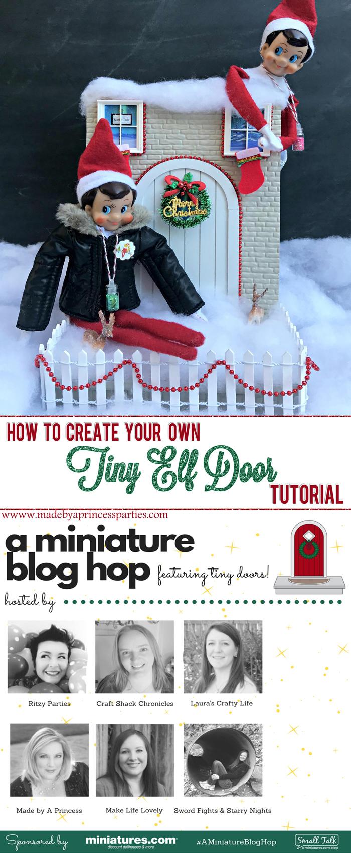 How to Create Your Own Tiny Elf Door Tutorial Elf on the Shelf Blog Hop MadebyaPrincess #elfdoor #fairydoor #elfdoorkit