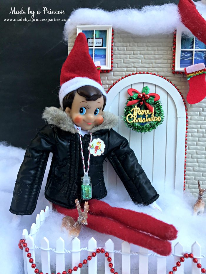 How to Create Your Own Tiny Elf Door Tutorial Elf on the Shelf ideas MadebyaPrincess #elfdoor #fairydoor #elfdoorkit