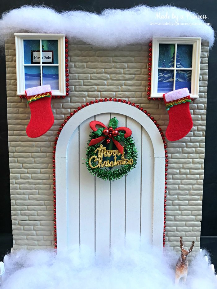 How to Create Your Own Tiny Elf Door Tutorial add decorations to door MadebyaPrincess #elfdoor #fairydoor #elfdoorkit