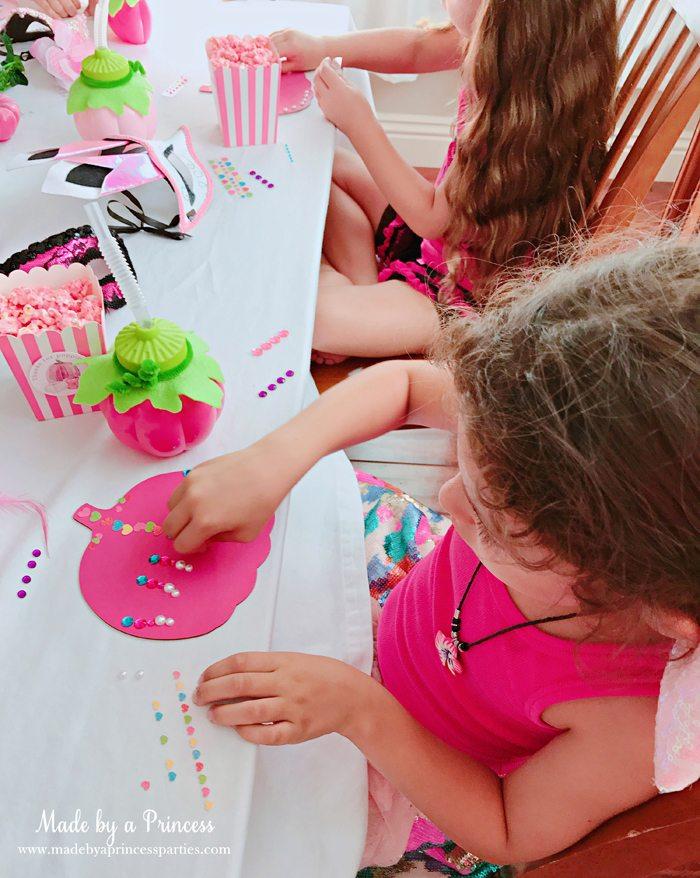 Pink Pumpkin Halloween Party Ideas decorating pink painted wood pumpkins Made by a Princess #pinkparty #pinkoween #pinkpumpkinparty