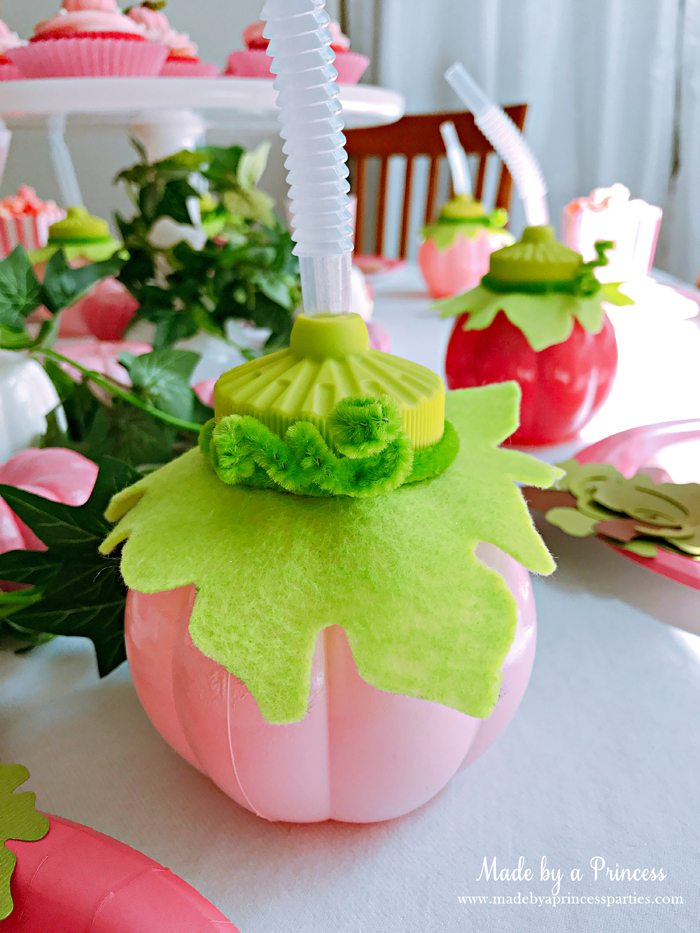 Pink Pumpkin Halloween Party Ideas pink molded cup Made by a Princess #pinkparty #pinkoween #pinkpumpkinparty