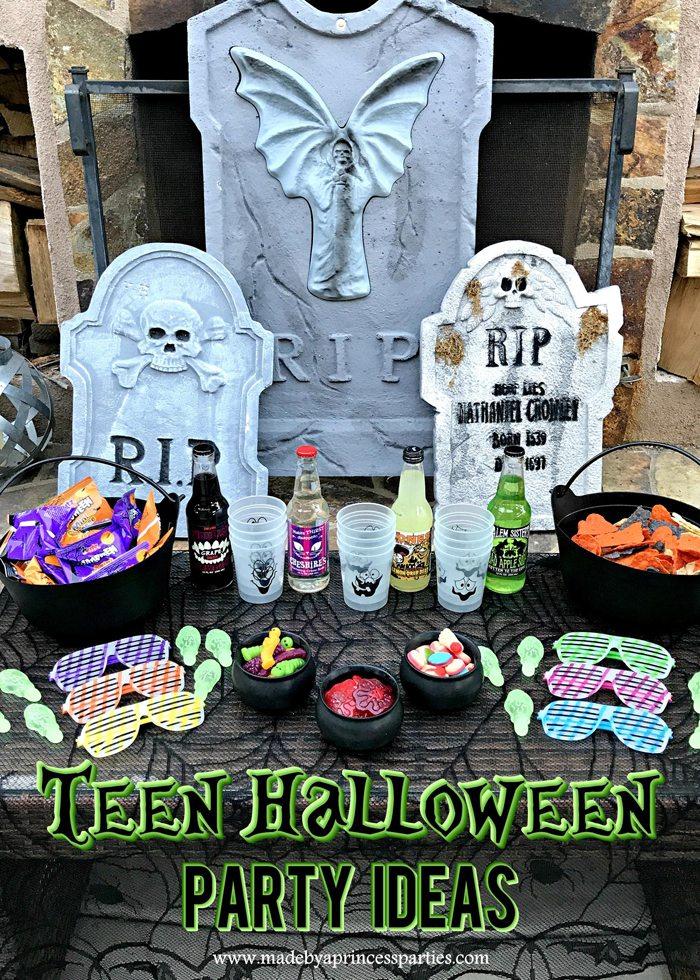 Teen Halloween Party Ideas Made by a Princess #halloweenparty #teenhalloween
