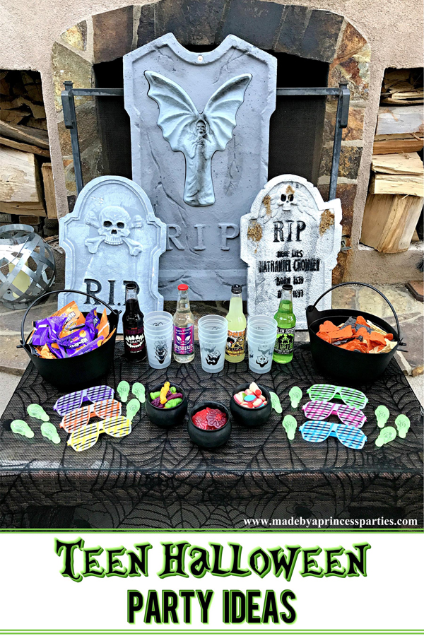 Teen Halloween Party Ideas that you can put together in less than 30 minutes #halloweenparty #teenhalloween #teenglowhalloween