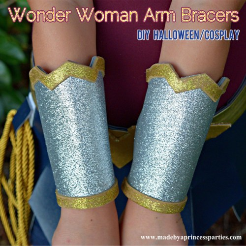 Wonder Woman Movie Arm Bracers Costume DIY perfect for cosplay or halloween #wonderwomancostume @MadebyaPrincess
