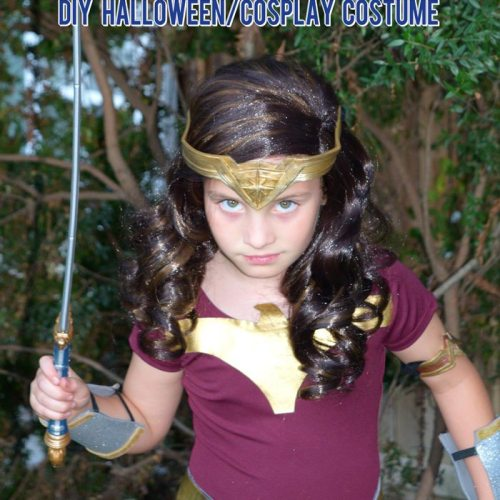 DIY Wonder Woman Movie Halloween Costume for Halloween or Cosplay MadebyaPrincess #halloweencostume #wonderwoman #galgadot #wonderwomancostume