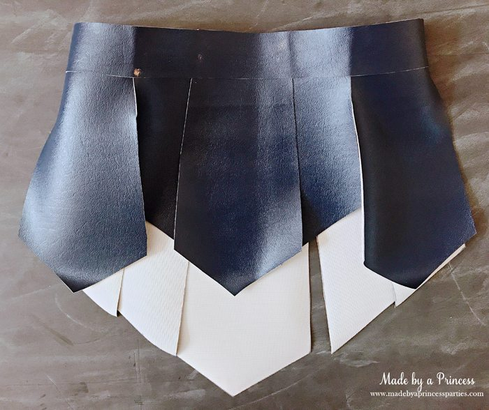 Wonder Woman Movie Costume gladiator skirt before adding side and inside panels MadebyaPrincess #halloweencostume #wonderwoman #galgadot #wonderwomancostume