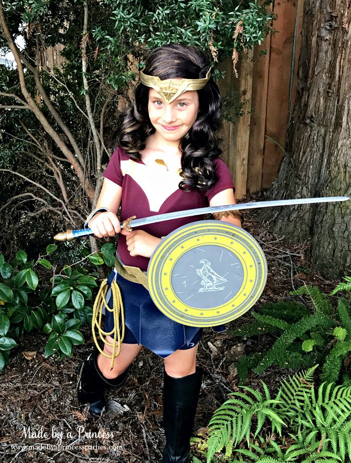 Wonder Woman Movie Costume with sword and shield MadebyaPrincess #halloweencostume #wonderwoman #galgadot #wonderwomancostume