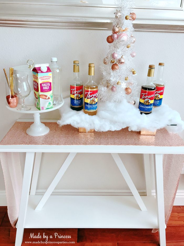 How to Make Italian Cream Soda Party Idea Display on Cute Table with Printable