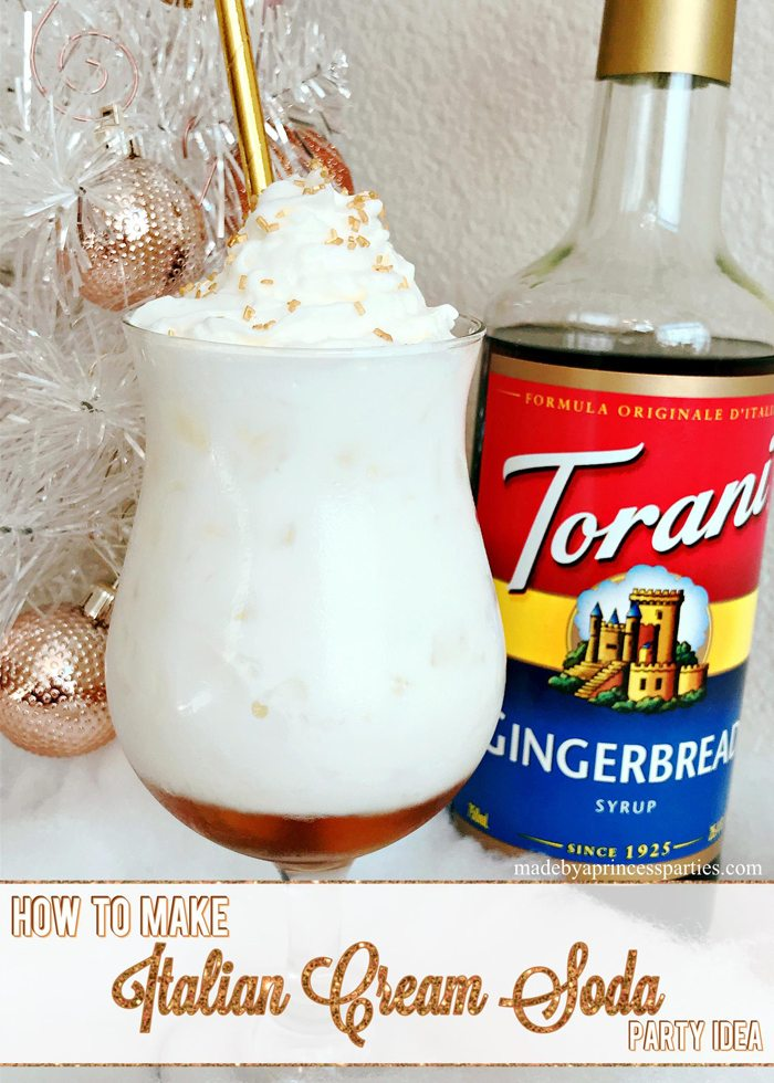 How to Make Italian Cream Soda Party Idea with Torani Syrup
